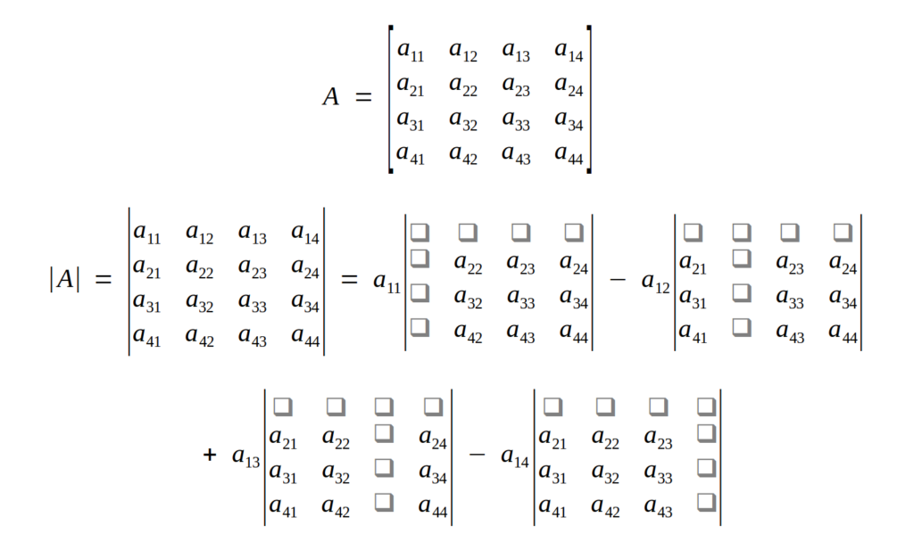 Find the Determinant of a Matrix with Pure Python without Numpy or